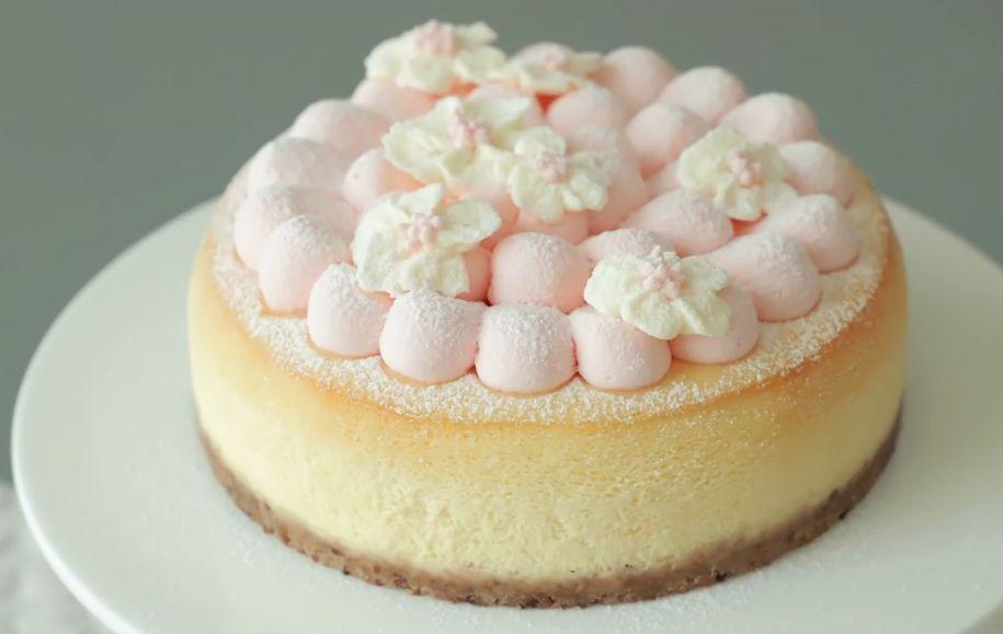 妞妞烘焙培训学校教你做刷屏朋友圈的樱花芝士蛋糕