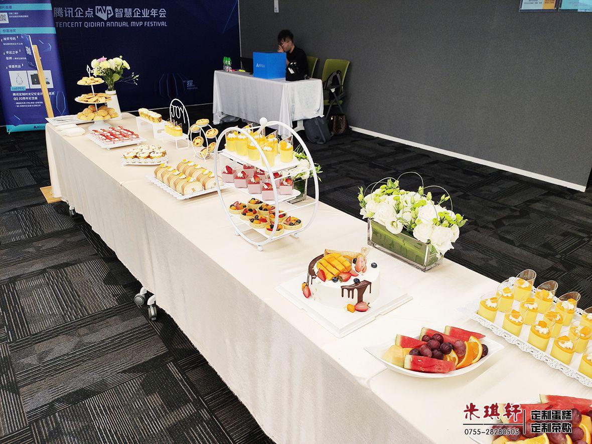 为深圳腾讯总部企点2019年会布置的商务茶歇(图5)